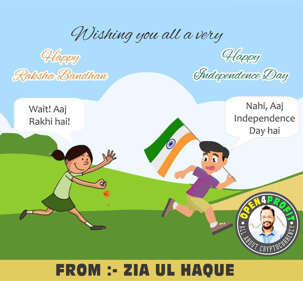 WISHING YOU ALL A VERY #HappyRakshabandhan & #IndependenceDayindia2019 #स्वतंत्रतादिवस #JaiHind #IndependenceDayIndia