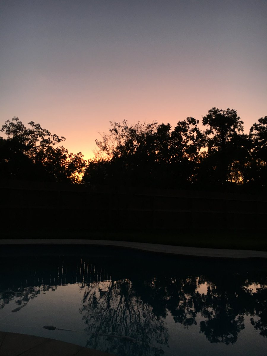Hey #tlap crew from Barbara in southern TX poolside under a cotton candy sky tonight! 💜