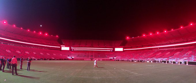 UA upgrades the lighting in Bryant Denny Stadium.
