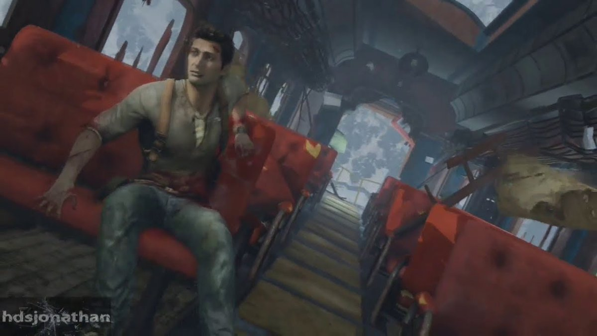 """Opening level of Uncharted 2, you're just like """" Ok this is cool HOLY FUCK IM LOSING A LOT OF BLOOD AND THE TRAIN CARRAGE I'M IN IS HANGING OFF A GIANT FUCKING CLIFF."""""""