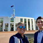 Image for the Tweet beginning: Hcash team at Parliament House