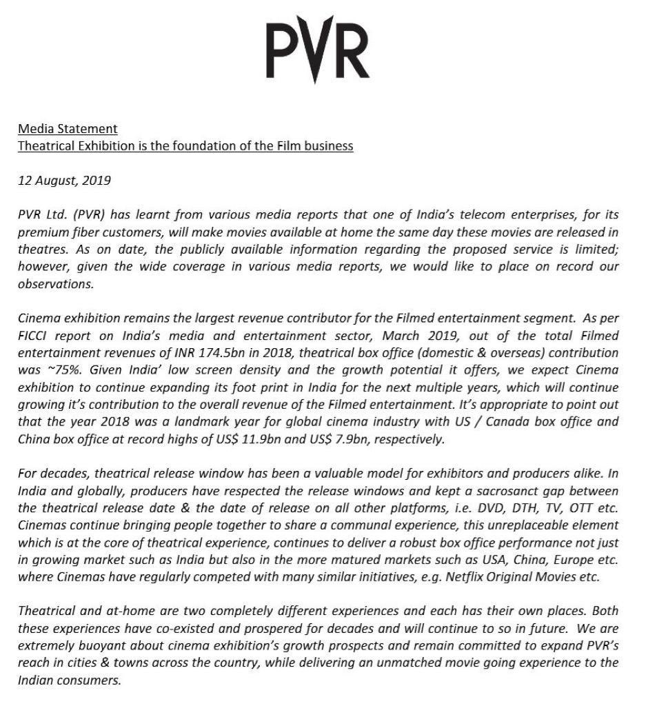Just tweeted a while ago on this only !!!! @_PVRCinemas twitter.com/girishjohar/st…
