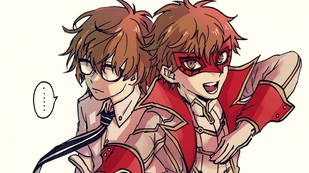 #persona5  fake Joker & fake Akechi <br>http://pic.twitter.com/KgCNRSx1RA