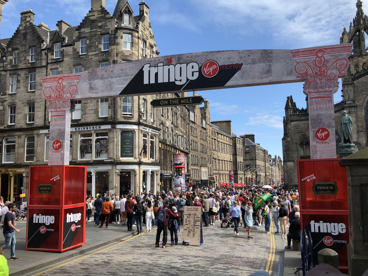Start your day off by heading up to the Virgin Money Street Events on the Royal Mile. With free shows and performances across all genres it's a sure way to #MakeYourFringe <br>http://pic.twitter.com/5BdrbQAtXs