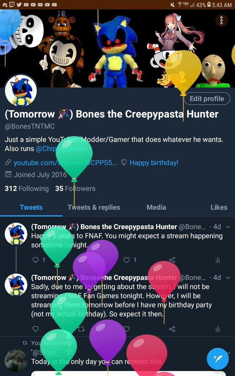 Bones the Creepypasta Hunter (@BonesTNTMC) | Twitter