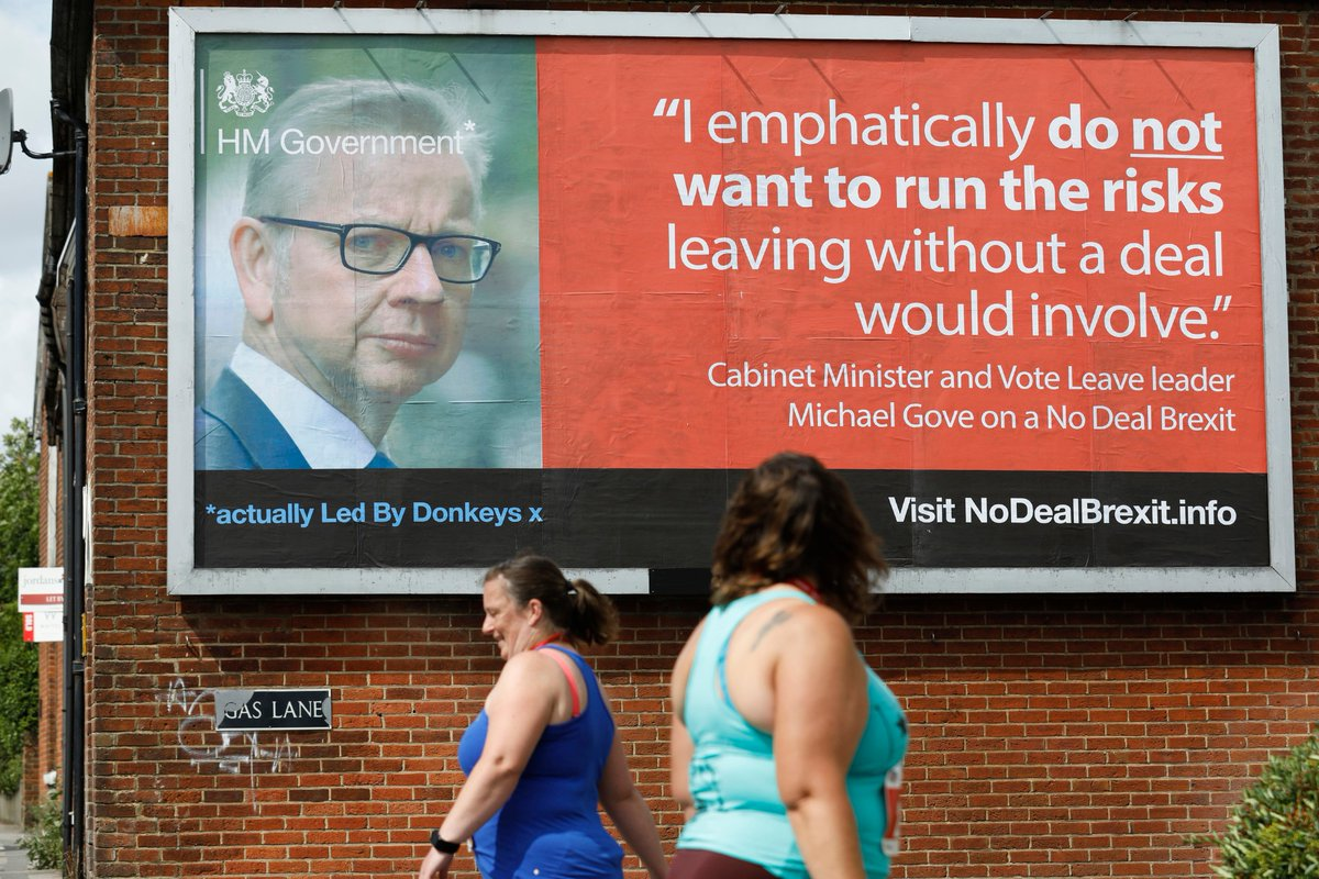Hi @BorisJohnson & @MichaelGove, we heard about your plan to spend £100m on a No Deal advertising campaign. The thing is youre both liars who can't be trusted to tell the public the truth. So were doing it for you. More details at NoDealBrexit.info (location: Salisbury)