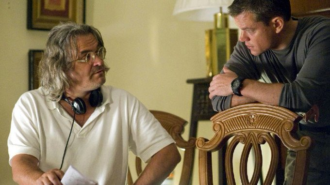 Happy Birthday Paul Greengrass. Here you are with Matt Damon on the set of Jason Bourne.