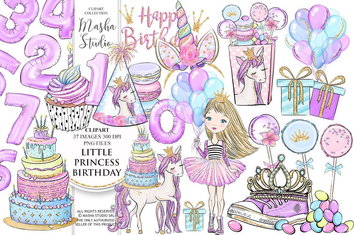 Purple Glitter Unicorn Clipart Graphics Unicorn Party | Etsy