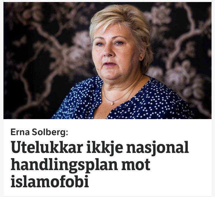 Utrolig at @erna_solberg snakker om å bekjempe islamofobi når hun ikke engang er villig til å slutte å finansiere den. På tide å se på hva hun gjør, ikke hva hun sier.