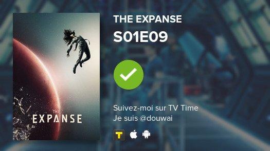 Je viens de regarder l'épisode S01E09 of The Expanse! #expanse  #tvtime  https:// tvtime.com/r/18LNt    <br>http://pic.twitter.com/efE0SQgrNg