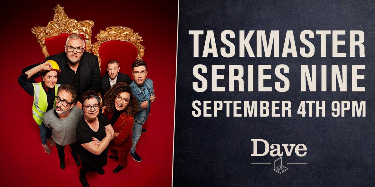 #Taskmaster is back @gdavies @AlexHorne @Baddiel Jo Brand @EdGambleComedy @WixKaty @Rose_Matafeo September 4th. Dave.