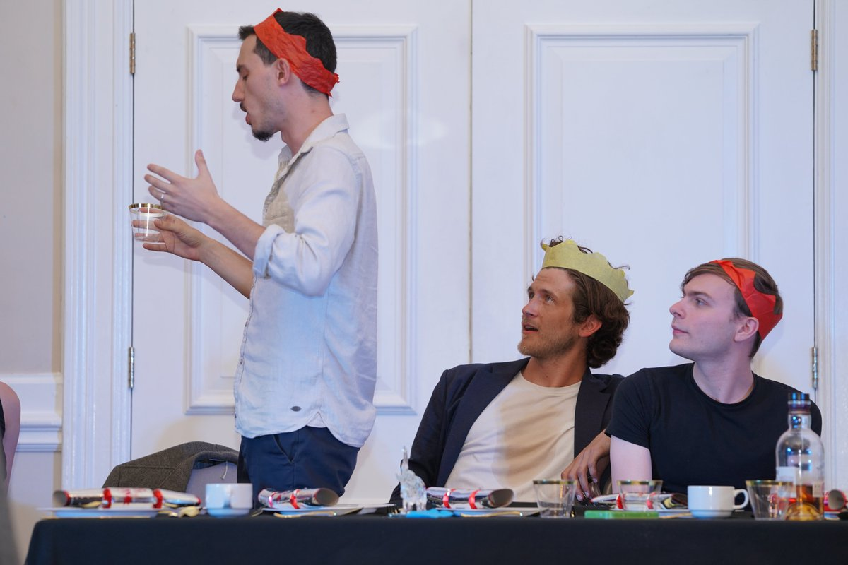 """4 days to go until @TheGlassElly takes the stage at #edinburghfringe2019- here's the cast entering the """"land of difficult questions"""" during the dress rehearsal! https://www.goodtheatrecomp.com"""