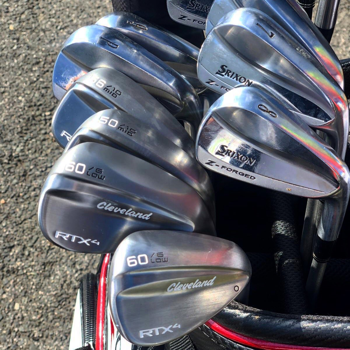 Crisp new wedges in the bag this week 🥳🥳 #europeantour #golfer #golf #srixon #Cleveland