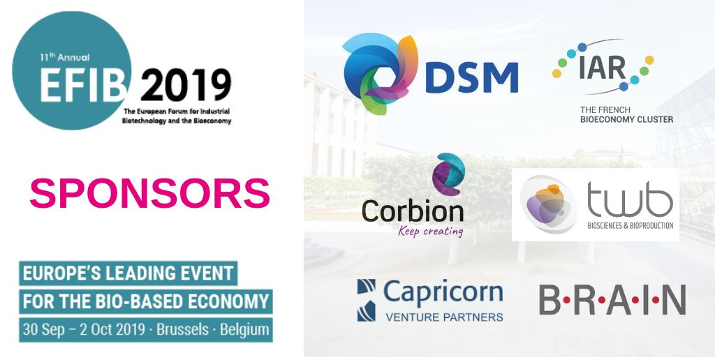 test Twitter Media - #EFIB2019 would not be possible without their support! Thank you to our sponsors to make #EFIB once again the European leading event for #biobased economy. @DSM @PoleIAR @CORBION @TWB_Biotech @BRAINbiotech https://t.co/bCClbjLfEi