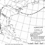 Image for the Tweet beginning: Hurricane Camille, a powerful, deadly,
