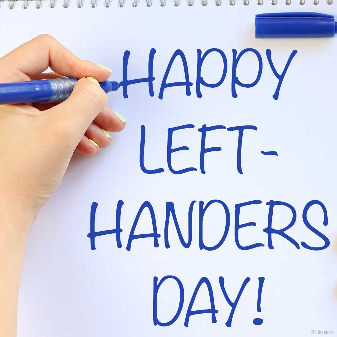 Happy Left Handers Day - August 13 - cover