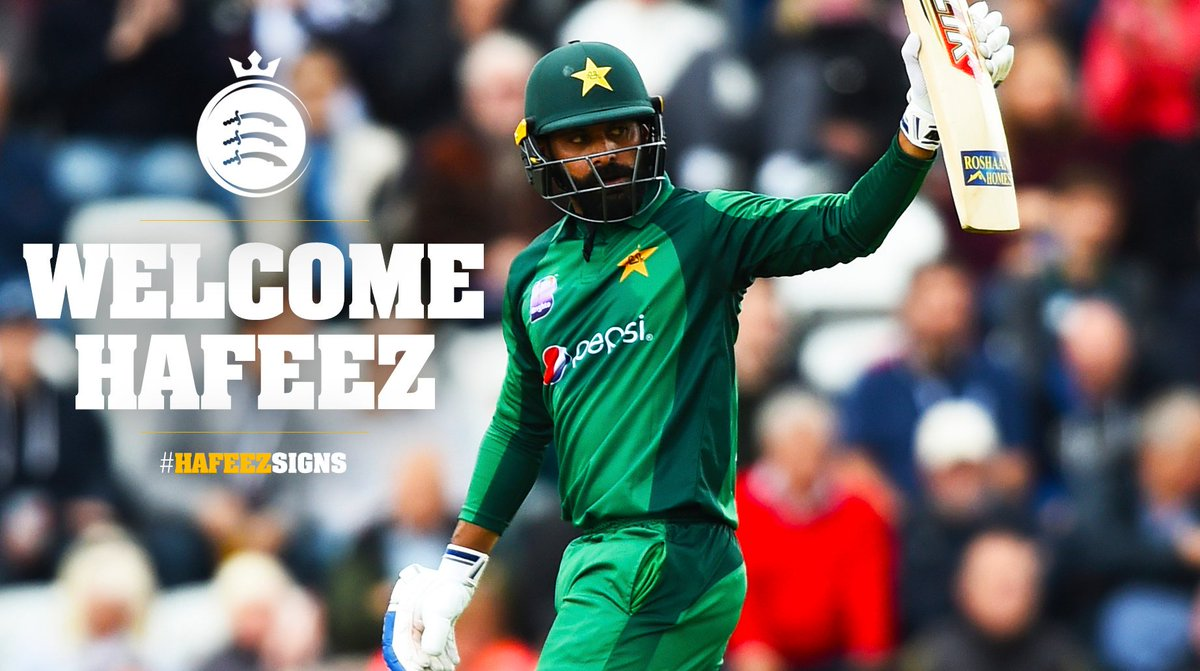 ✍️ | MOHAMMAD HAFEEZ SIGNS FOR VITALITY BLASTWe are delighted to confirm that @TheRealPCB international @MHafeez22 will join the club for the remainder of the @VitalityBlast group campaign! 🙌Full story 👉http://bit.ly/2YWrglu