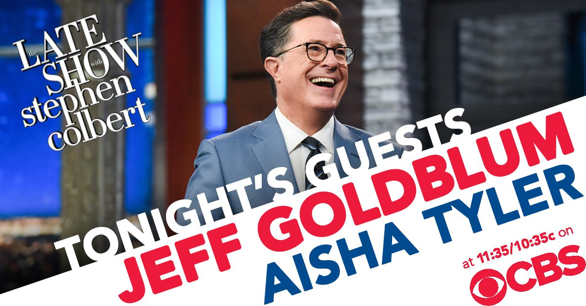TONIGHT: The one and only Jeff Goldblum is here. Then we chat with the very funny @aishatyler from @archerfxx! #LSSC <br>http://pic.twitter.com/hfM9I49def