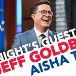 TONIGHT: The one and only Jeff Goldblum is here. Then we chat with the very funny @aishatyler from @archerfxx! #LSSC