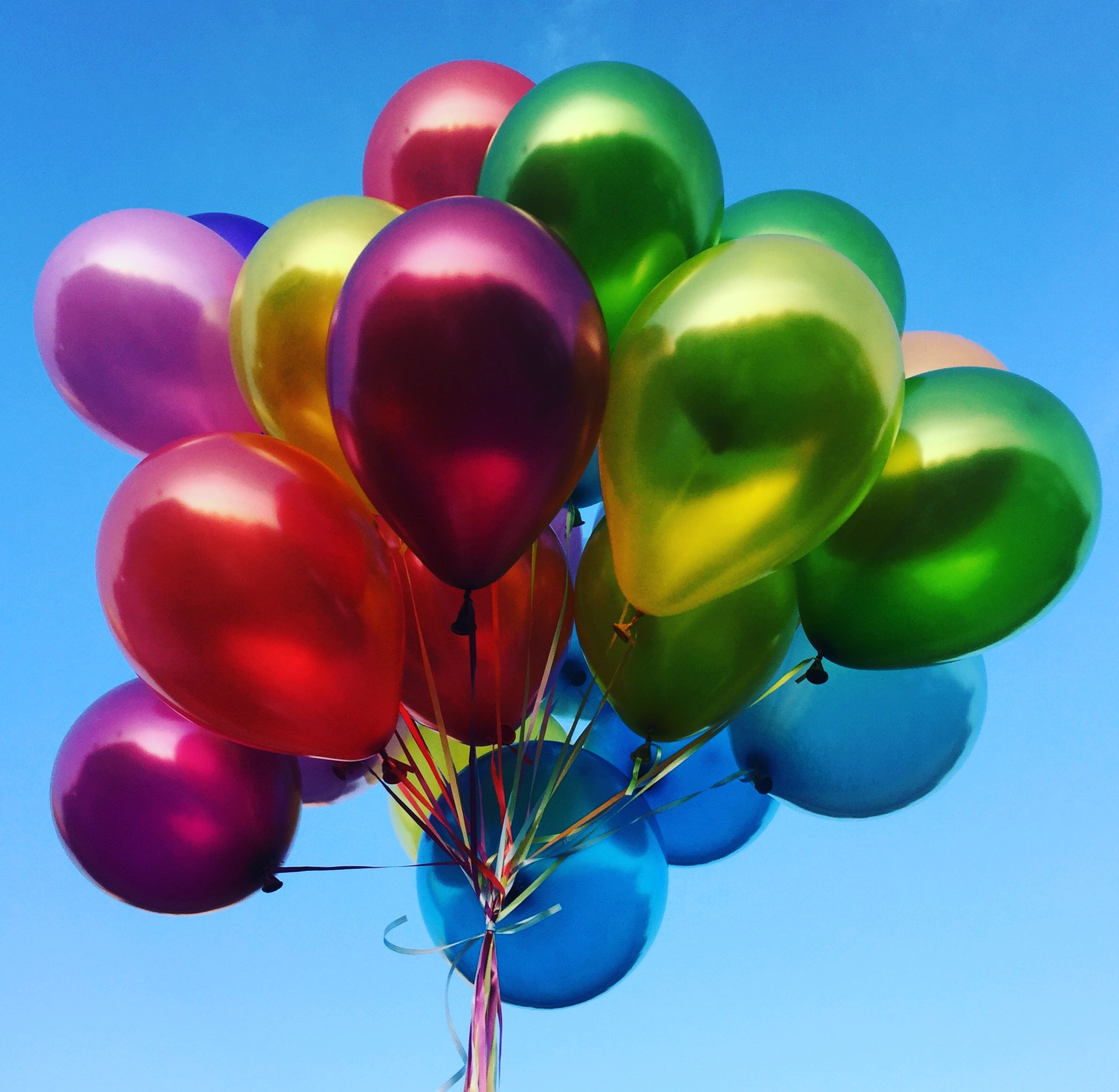 Красивые воздушные шары фото, поздравления днем