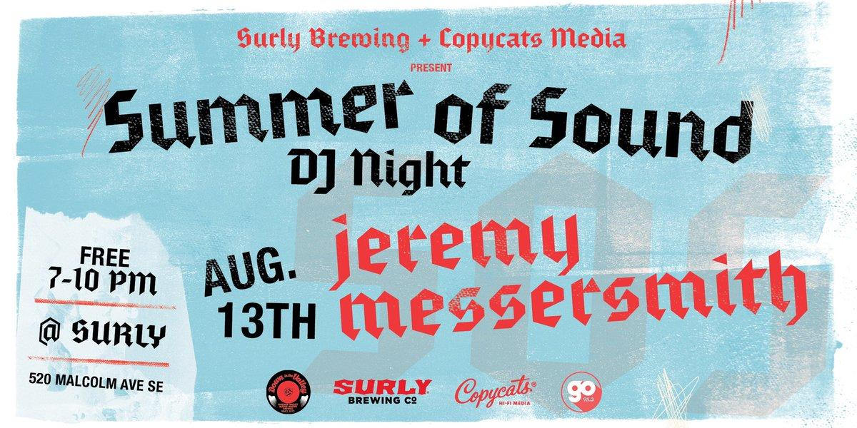 Tonights Summer of Sound DJ is @jmessersmith. He has threatened to drop DC Talk deep cuts, so we wouldnt miss this one either. fal.cn/33rwV