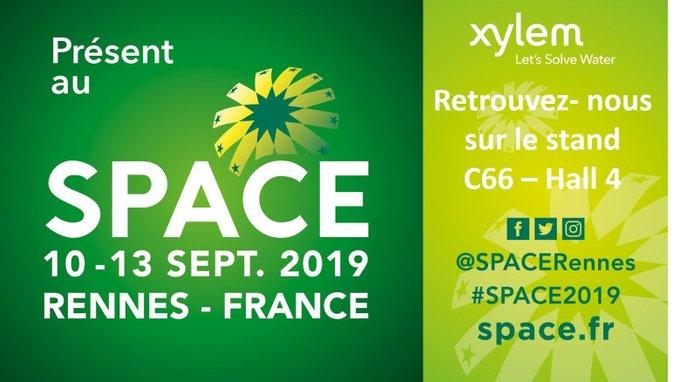 RDV du 10 au 13 septembre au salon #Space à RennesExpo sur le stand de @XylemFrance, @SensusFrance & @Xylem_Analytics C66, Hall 4 pour découvrir l...