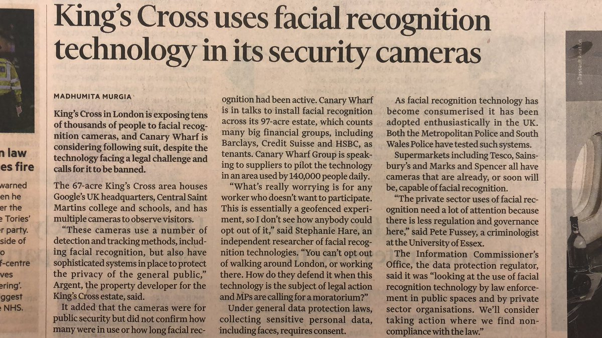 EB2Rhy1WkAA4Ima - Facial recognition in use at King's Cross...