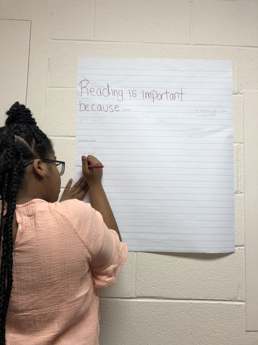 Reading is important because...  Writing is important because...   What would YOU add?!  #ProjectLITChat #NCTEVillage <br>http://pic.twitter.com/1zmgRdBmkv