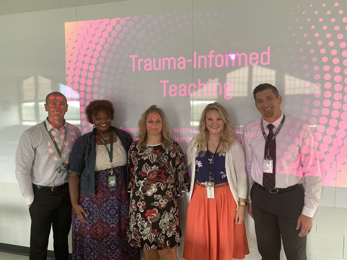 Mr. Poll, Ms. Bass, Ms Walters, Ms. Meyer, and Mr. Mitchell present on Trauma Informed Teaching. Go West!