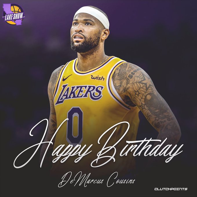 Join Lakeshow in wishing 4x All-Star, DeMarcus Cousins, a happy 29th birthday!