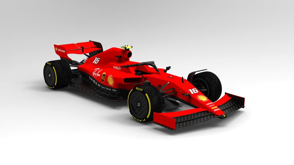 A possible look into the future. A Ferrari look overlaid on top of a 2021 concept model 🏎😎👊  #ScuderiaFans #ForzaFerrari #essereFerrari 🔴