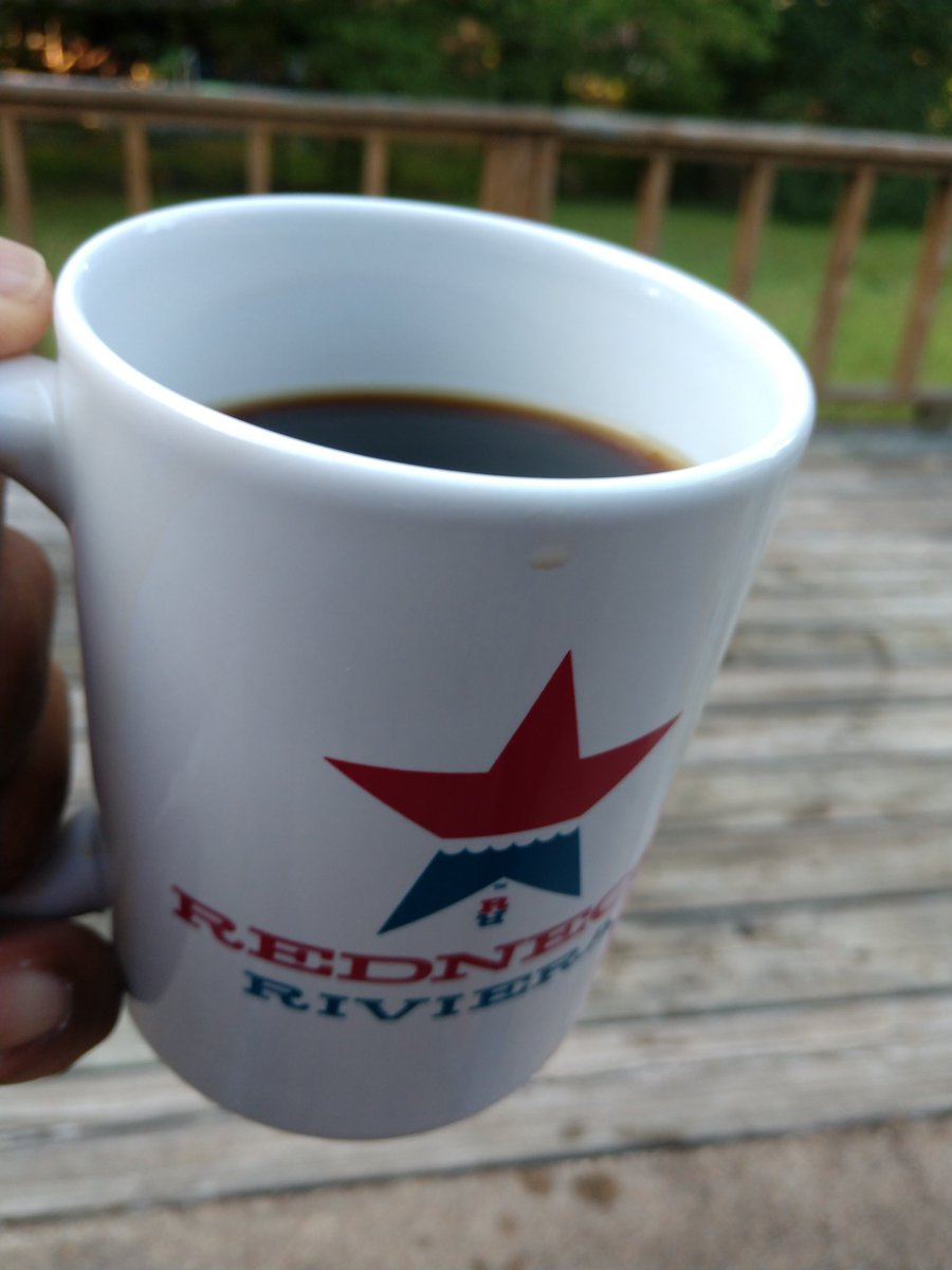 Morning coffee on the back porch and thinking about #CountryMusic @RedneckRiviera