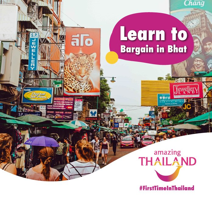 #FirstTimeInThailand: Make sure you learn how to bargain. Thai vendors are always willing to give you a great deal. Give us your top tips below and stand a chance to WIN a Simply Asia voucher for TWO weekly. T&C's apply #amazingthailandsouthafrica #thailandpic.twitter.com/wQEia7OqTC