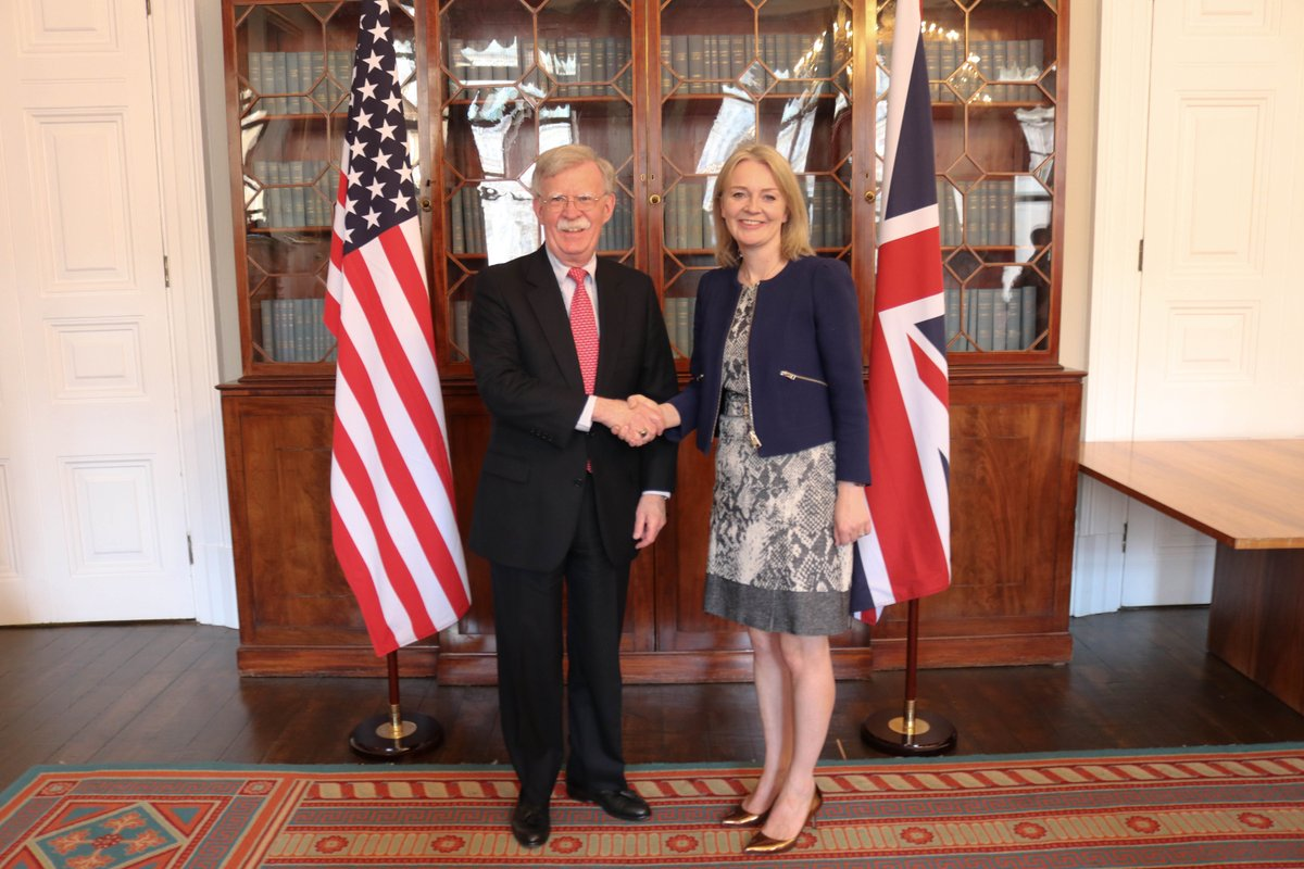 Another great discussion with UK Secretary of State for International Trade Liz Truss. US-UK partnership and collaboration on key global security issues, especially trade, are essential to promoting our nations' shared prosperity.