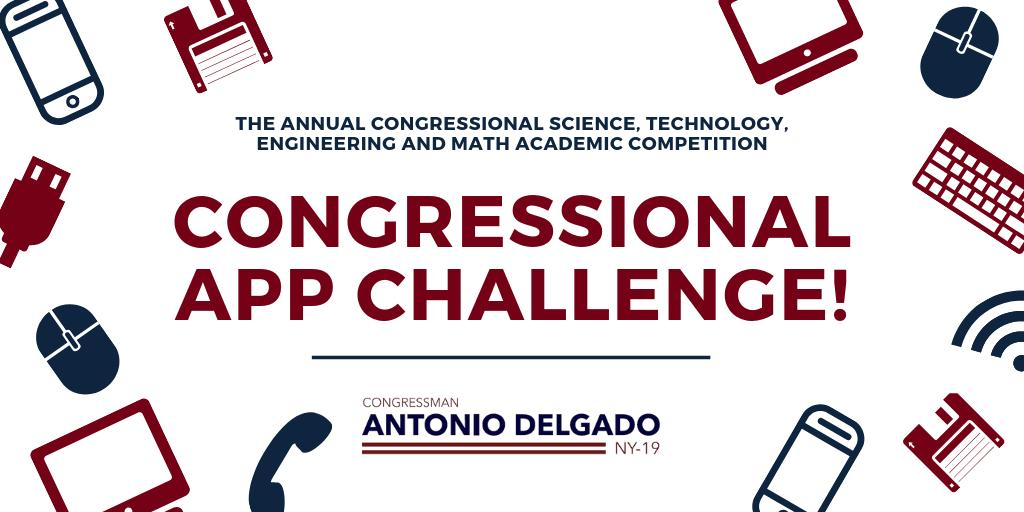 Attention #NY19 middle and high school students: my office is accepting submissions for the @CongressionalAC. Learn more about the challenge and how to submit your app here: delgado.house.gov/services/congr…