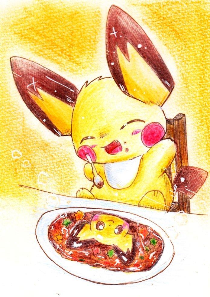 RT @pichu_no_hito: ポケモンカフェのピチューカレーをいっぱい食べるピチューが好きです。 https://t.co/AwBEVR8JFG