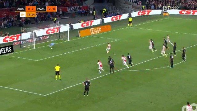 Ajax - PAOK Saloniki 1-1 door Dusan Tadic