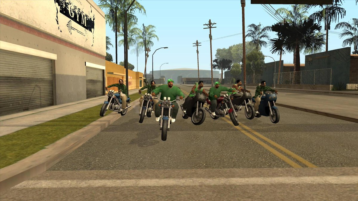 only true GTA San Andreas fans remember when you and the homies pulling up to the gang streets.