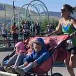Image for the Tweet beginning: Mum runs 3:11 marathon with