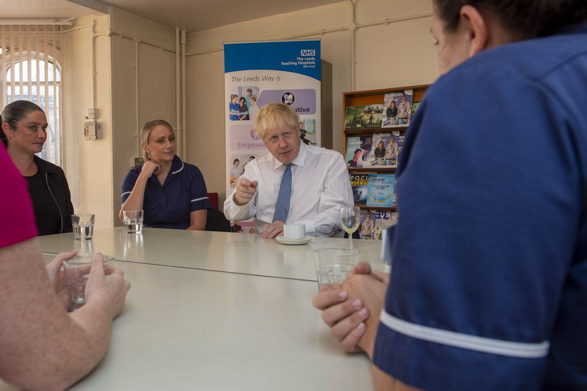 Today PM @BorisJohnson visited Leeds General Infirmary, one of 20 hospitals across the country that are being upgraded as part of an extra £1.8 billion of support for the NHS #OurNHS