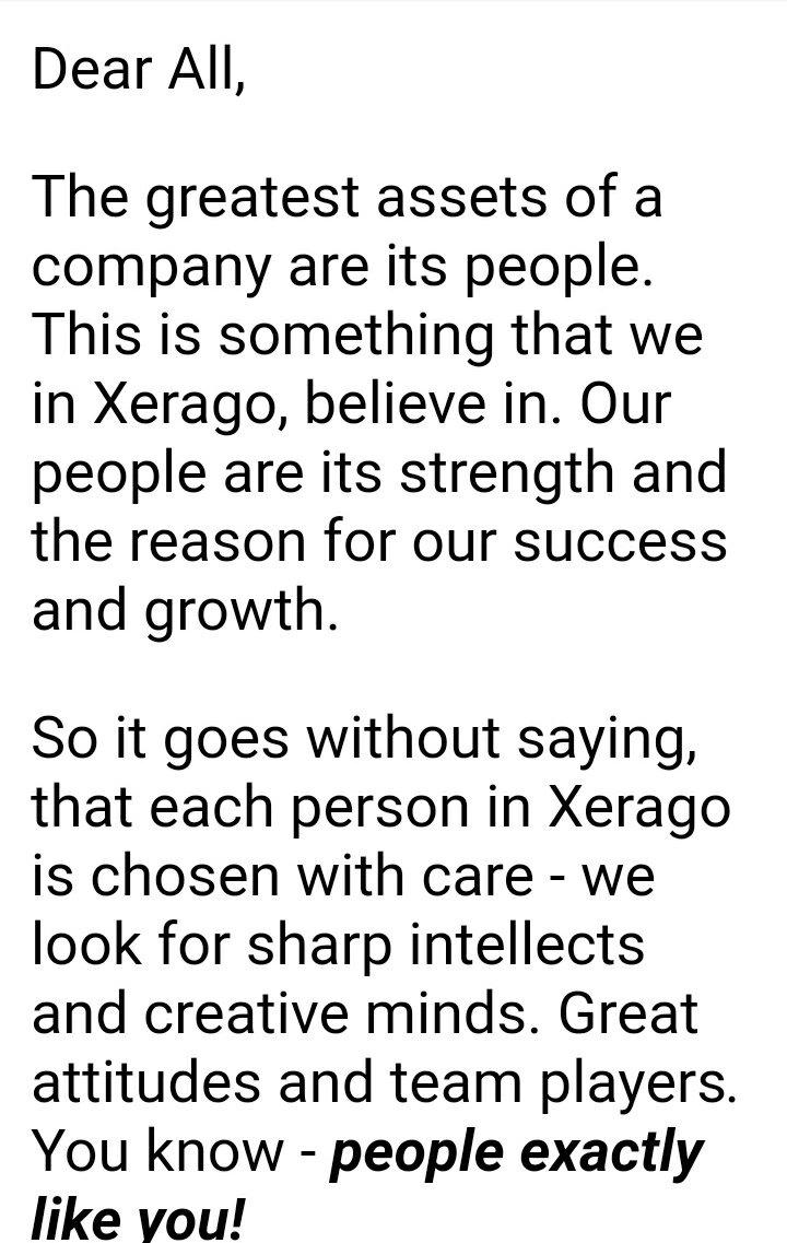 Xerago careers
