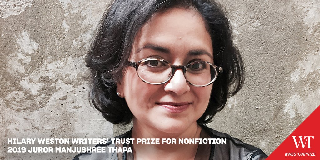 2019 #WestonPrize juror @ManjushreeThapa is an author, essayist & translator living in Toronto. A past #BertonHouse writer-in-residence, her books include The Lives We Have Lost, A Boy from Siklis and Forget Kathmandu. Look out for her latest, All of Us in Our Own Lives, out now.