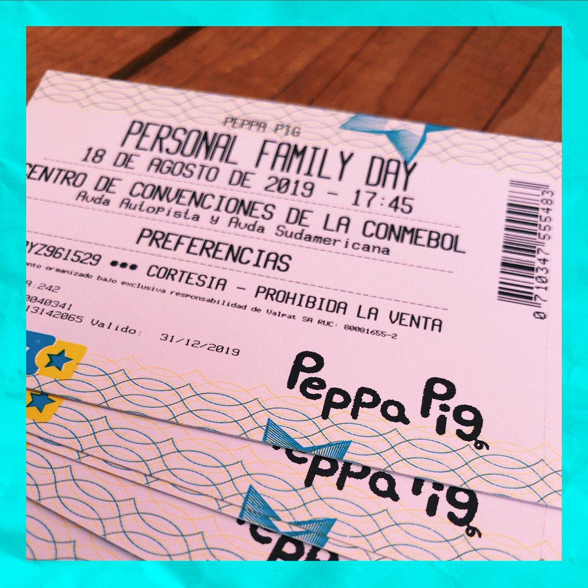 ¡Tenemos entradas para el show de #PeppaPig en el Family Day de @personalpy! 🐷🎉 Para participar, dale RT, contános a quien te gustaria llevar y dejá tus 3 últimos 🙌🏻 Anunciamos ganadores este jueves! 👇🏻