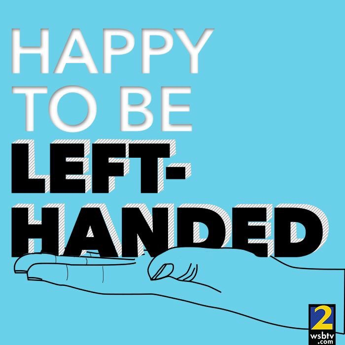 I'm in great company (and I have ink all over my hand). #LeftHandedDay.