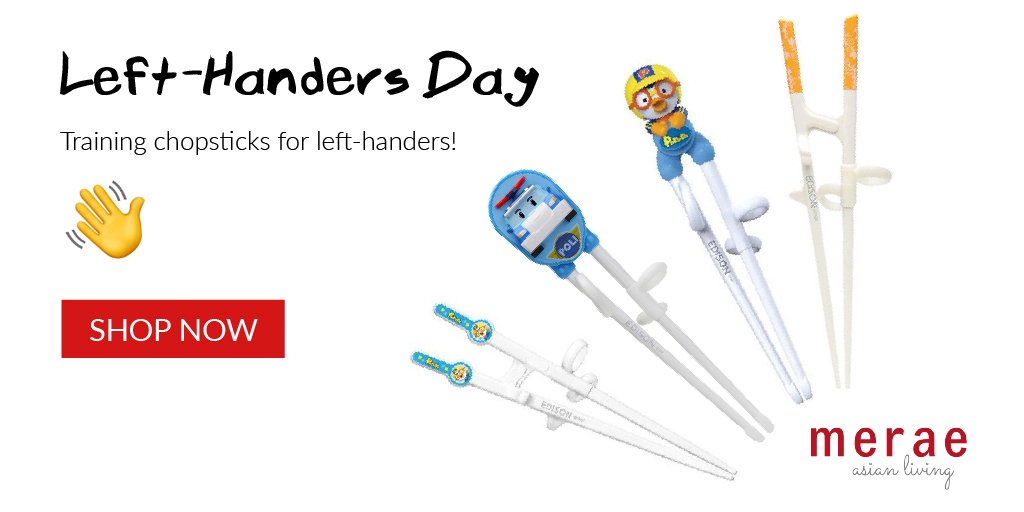 Happy Left-Handers Day Training chopsticks for left-handers! - https://merae.com/flatware  . #lefties #happylefthandersday #lefthandersday #chopsticks #howtousechopsticks #masterchopsticks #merae #asianliving #asianlifestyle pic.twitter.com/YzFQDe0urq