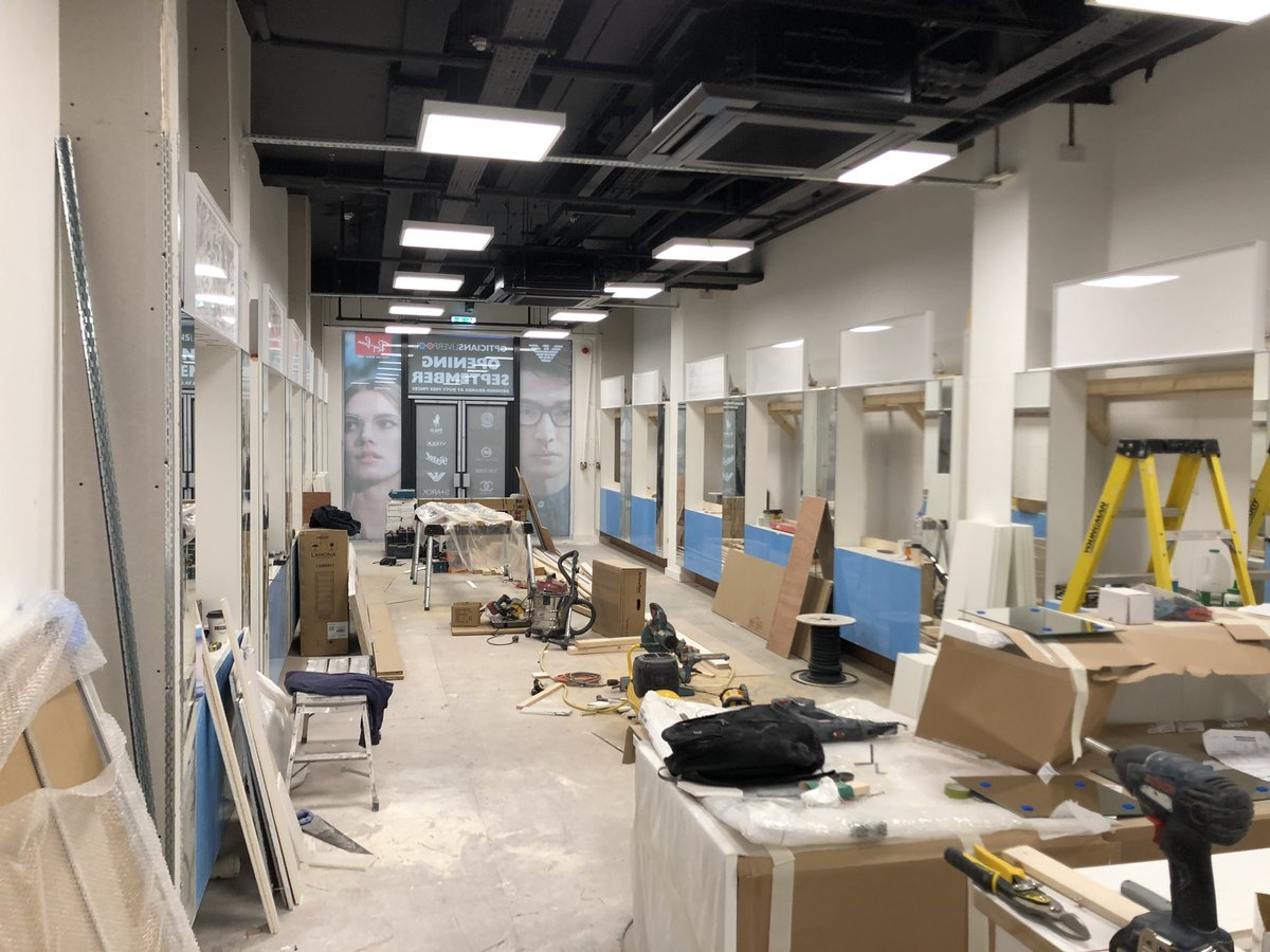 test Twitter Media - The shop fitting division is working hard at Clayton square for Liverpool Opticians. Opening in September - look out for the final images, it's going to look amazing! #liverpool #shopfitting https://t.co/5suir9Q9lB