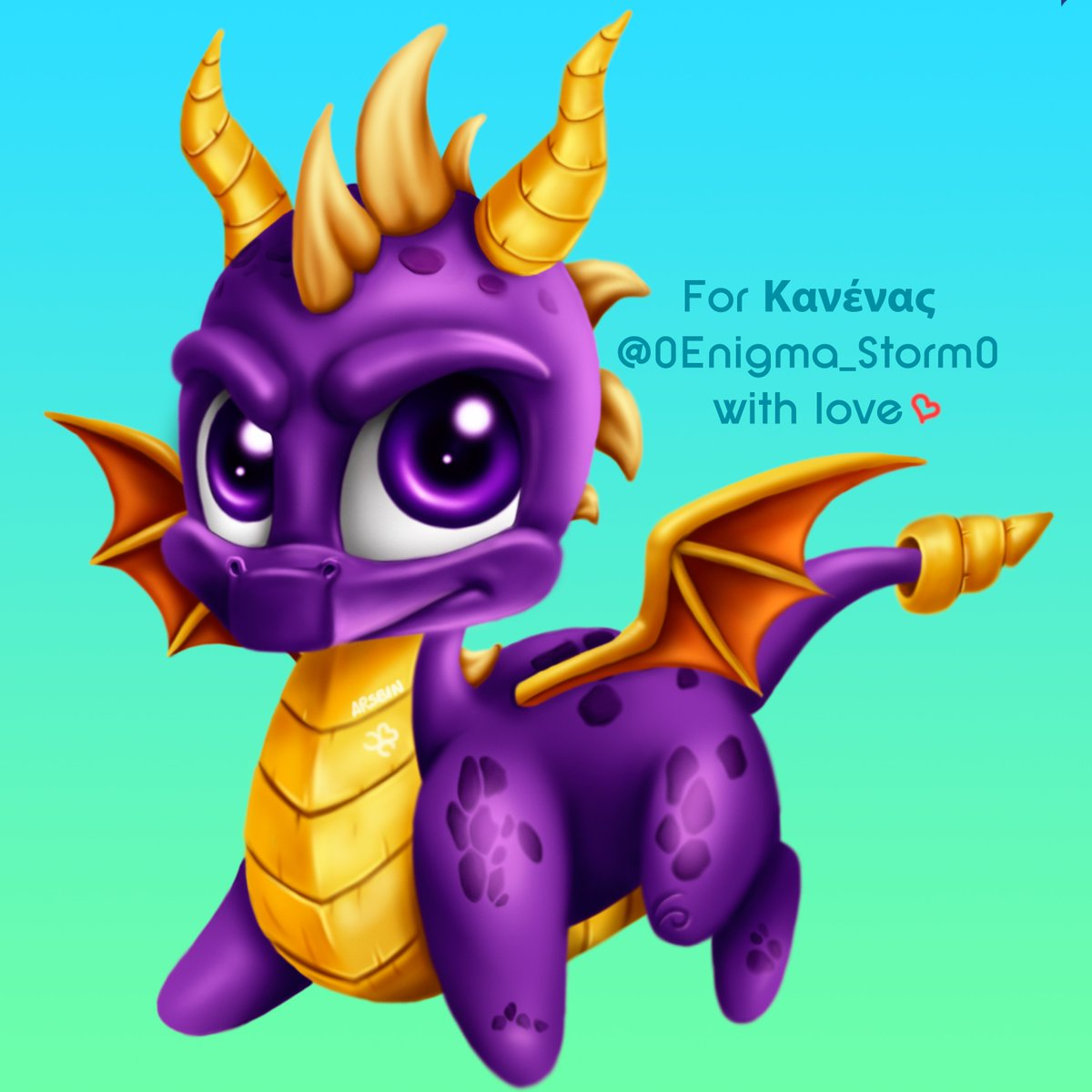 My chibi Spyro! @0Enigma_Storm0 requested him as the raffle prize  Hope you like my cute baby!   #SpyroTheDragon #Spyro #chibi @SpyroUniverse<br>http://pic.twitter.com/A2IPUzvMRK
