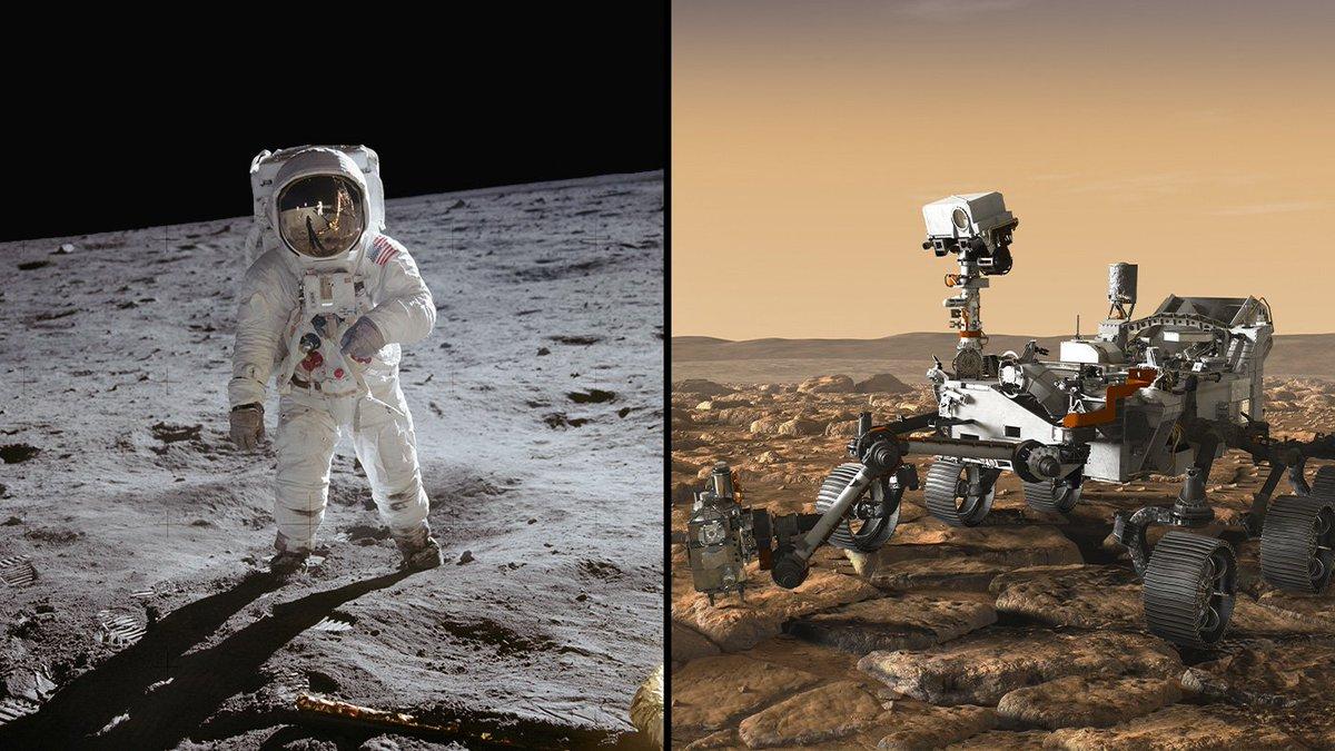Like an #Apollo11 astronaut retrieving Moon rocks, @NASA's #Mars2020 rover will prepare Martian samples for return to Earth: go.nasa.gov/2OU2UZN