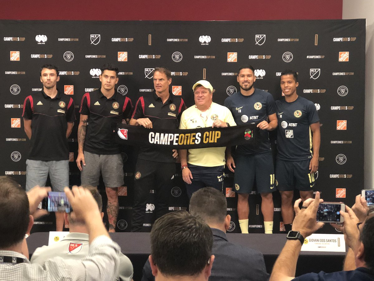 #ATLUTD - Press Conference for tomorrow's @CampeonesCup between @ATLUTD & @ClubAmerica_EN