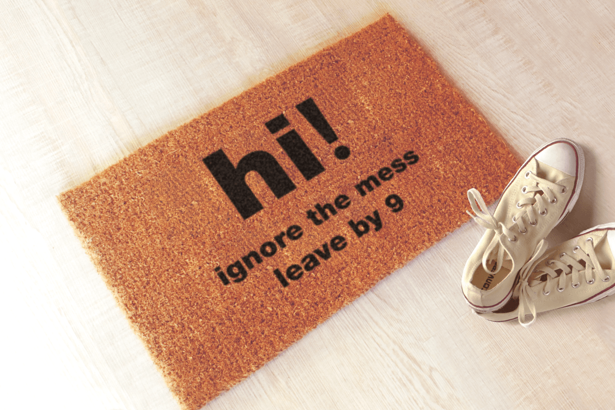 Let your guests know the rules before they even knock with